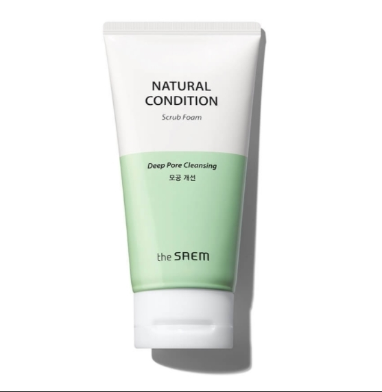The Saem Пенка-скраб для лица Natural Condition Scrub Foam [Deep pore cleansing] 150мл
