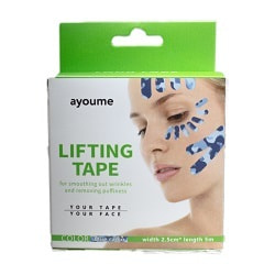 АЮМ Тейп для лица 2,5см*5м камуфляж голубой  Kinesiology tape roll