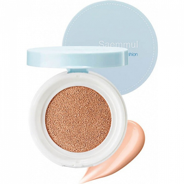 Тональная основа Saemmul Perfect Pore Cushion 02 Natural Beige