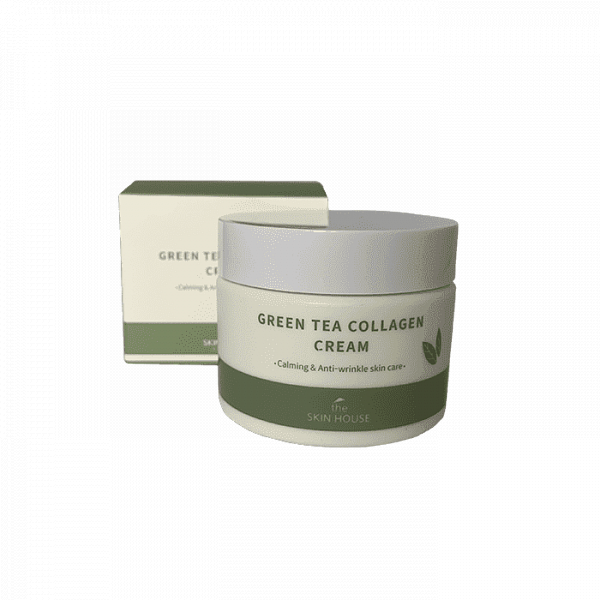 СКХ Крем  для лица и тела с коллагеном и экстрактом зеленого чая GreenTea Collagen Cream 50ml