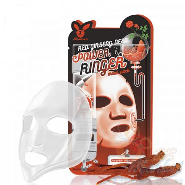 ЕЛЗ POWER RINGER Маска для лица тканевая RED GINSENG DEEP POWER RINGER MASK PACK 23мл