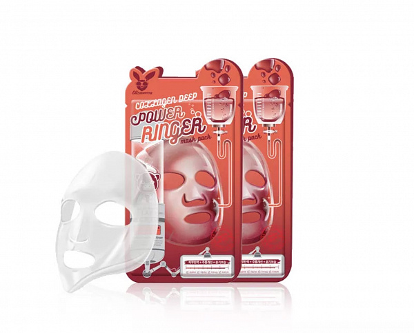 ЕЛЗ POWER RINGER Маска для лица тканевая COLLAGEN DEEP POWER RING MASK PACK 23мл