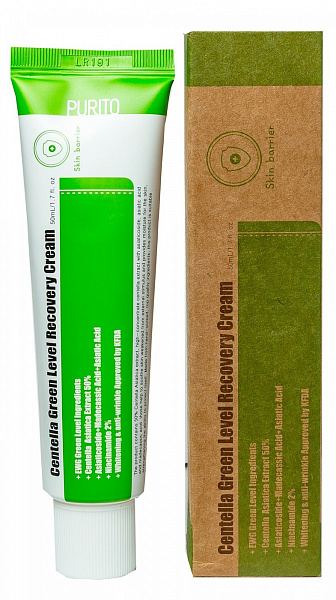 Purito Centella Green Level Recovery Cream Успокаивающий крем для восстановления кожи с центеллой