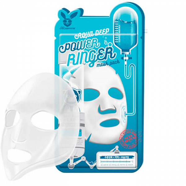 ЕЛЗ POWER RINGER Маска для лица тканевая AQUA DEEP POWER RING MASK PACK 23мл