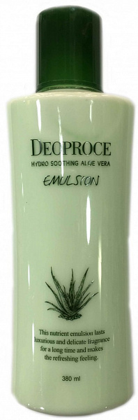 ДП HYDRO Эмульсия для лица с экстрактом алоэ DEOPROCE HYDRO SOOTHING ALOE VERA EMULSION 380ML