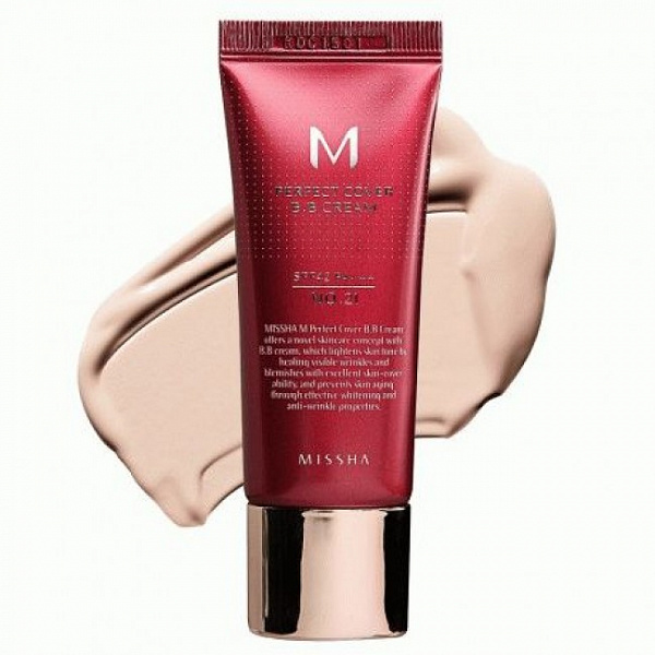 Тональный крем MISSHA M Perfect Cover BB Cream SPF42/PA+++ (No.21/Light Beige) 20ml