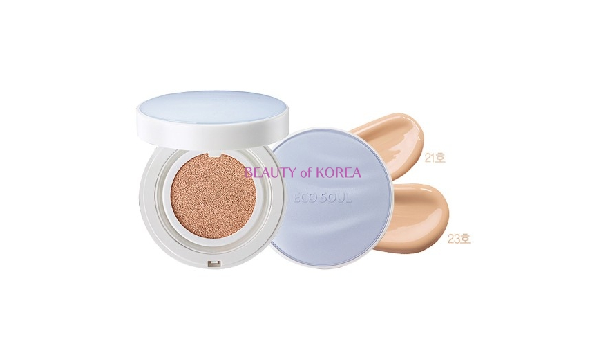 THE SAEM Основа тональная матирующая Eco Soul Essence Cushion Matt Longwear SPF50+ PA+++  15гр