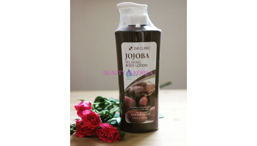 3W CLINIC Лосьон для тела Relaxing Body Lotion Jojoba 550мл