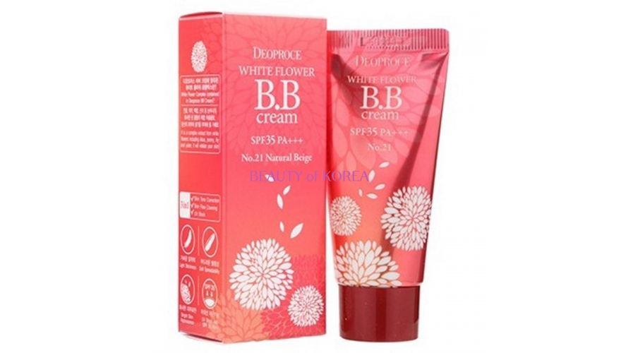 Крем ББ DEOPROCE WHITE FLOWER BB CREAM SPF35 PA+++ 30гр
