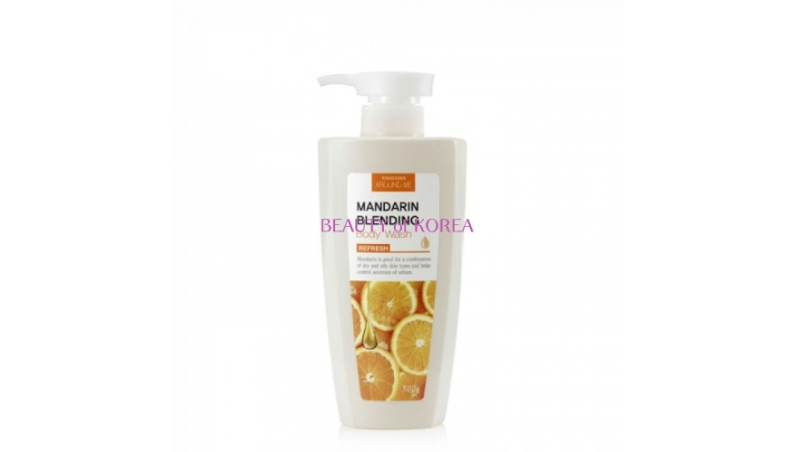 Welcos Гель для душа с мандарином Around me Mandarin Blending Body Wash 500гр